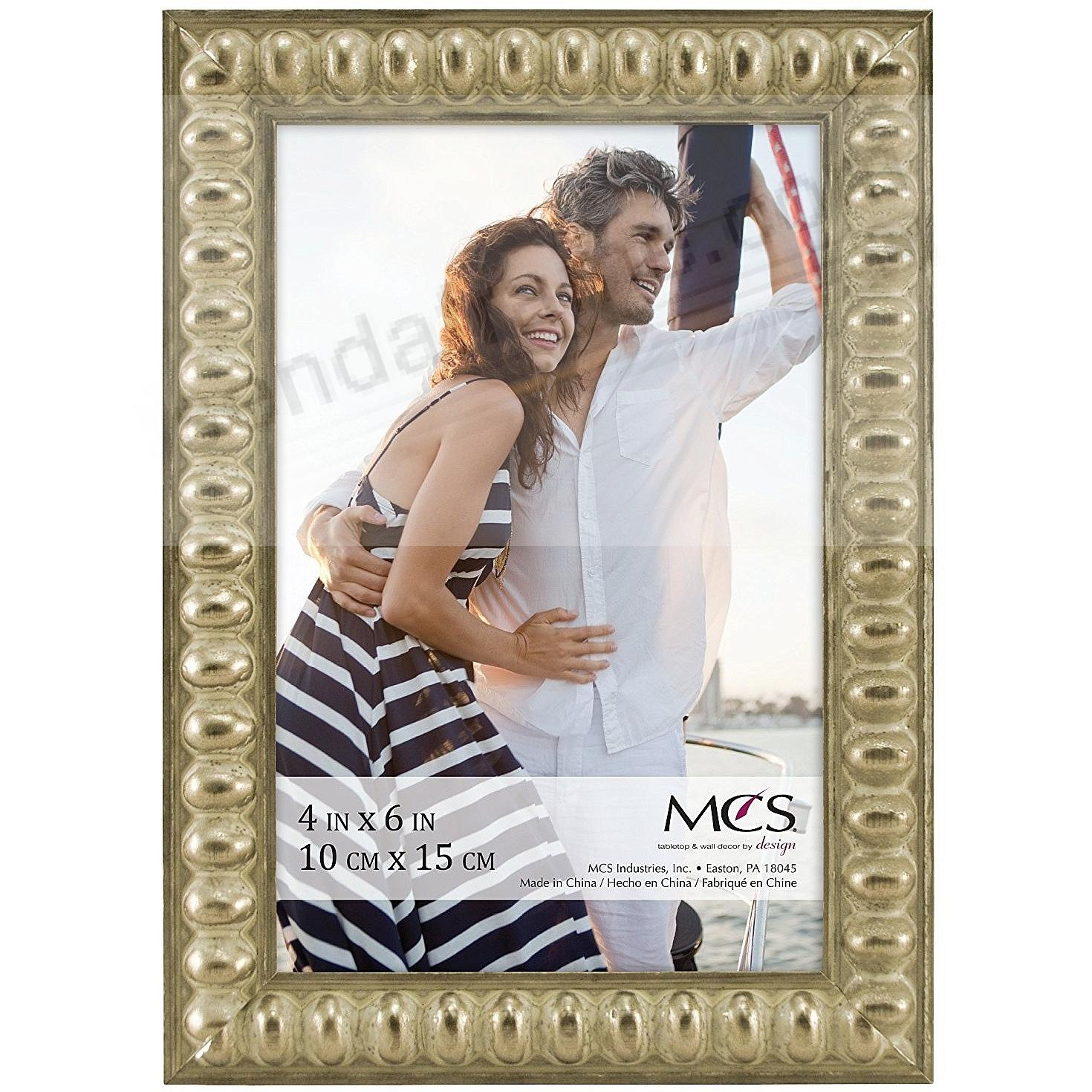 THIN BEAD Wood Champagne frame 4x6 by MCS®