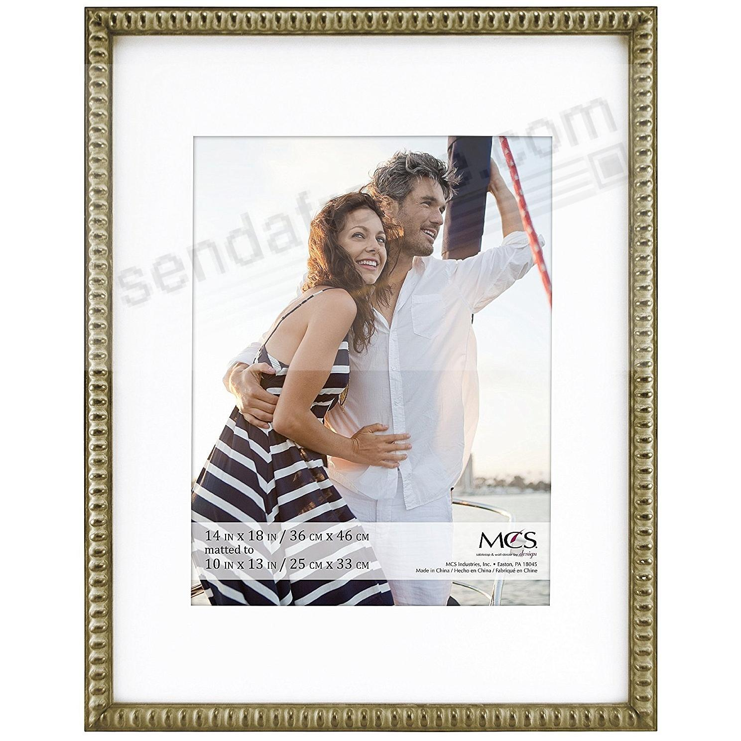 THIN BEAD Wood Champagne frame 16x20/11x14 by MCS®