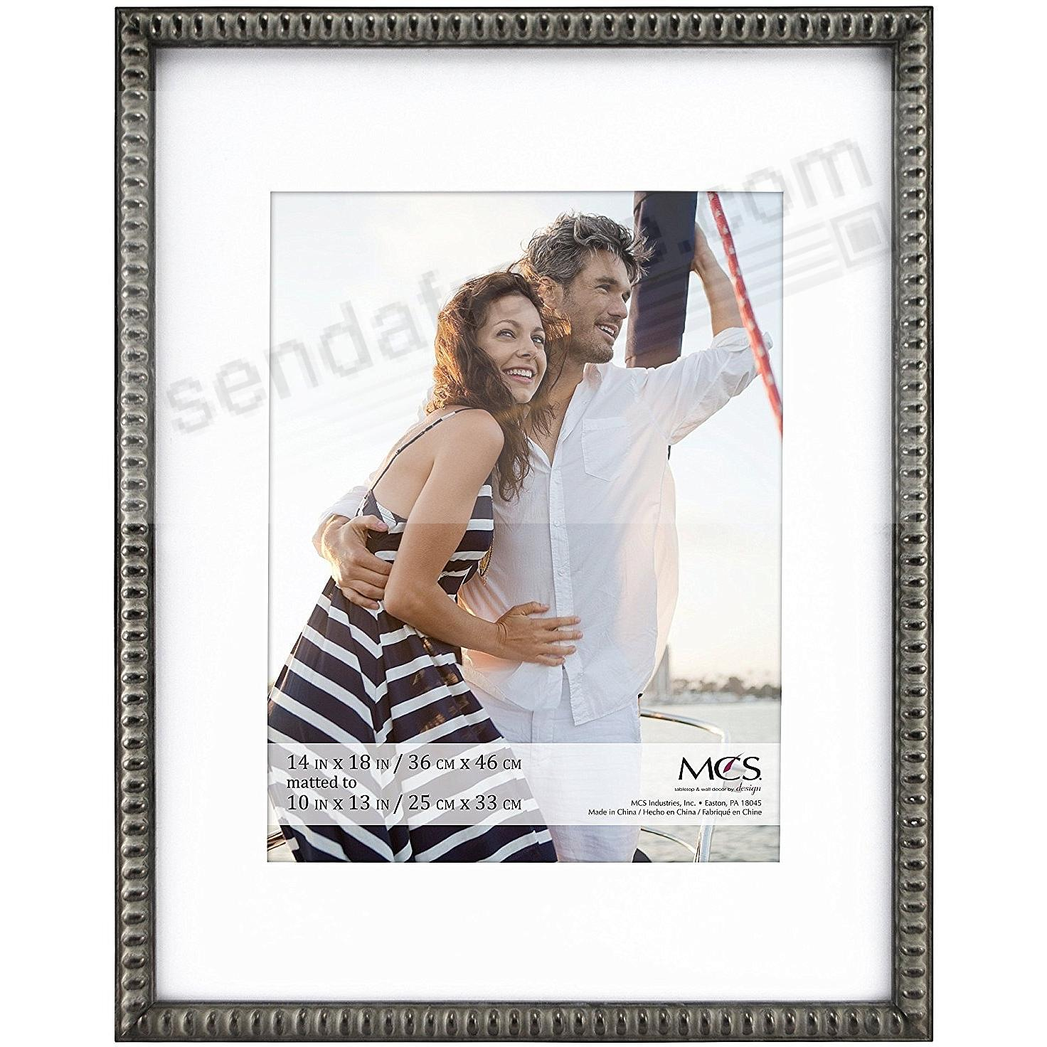 THIN BEAD Wood Pewter frame 14x18/10x13 by MCS®