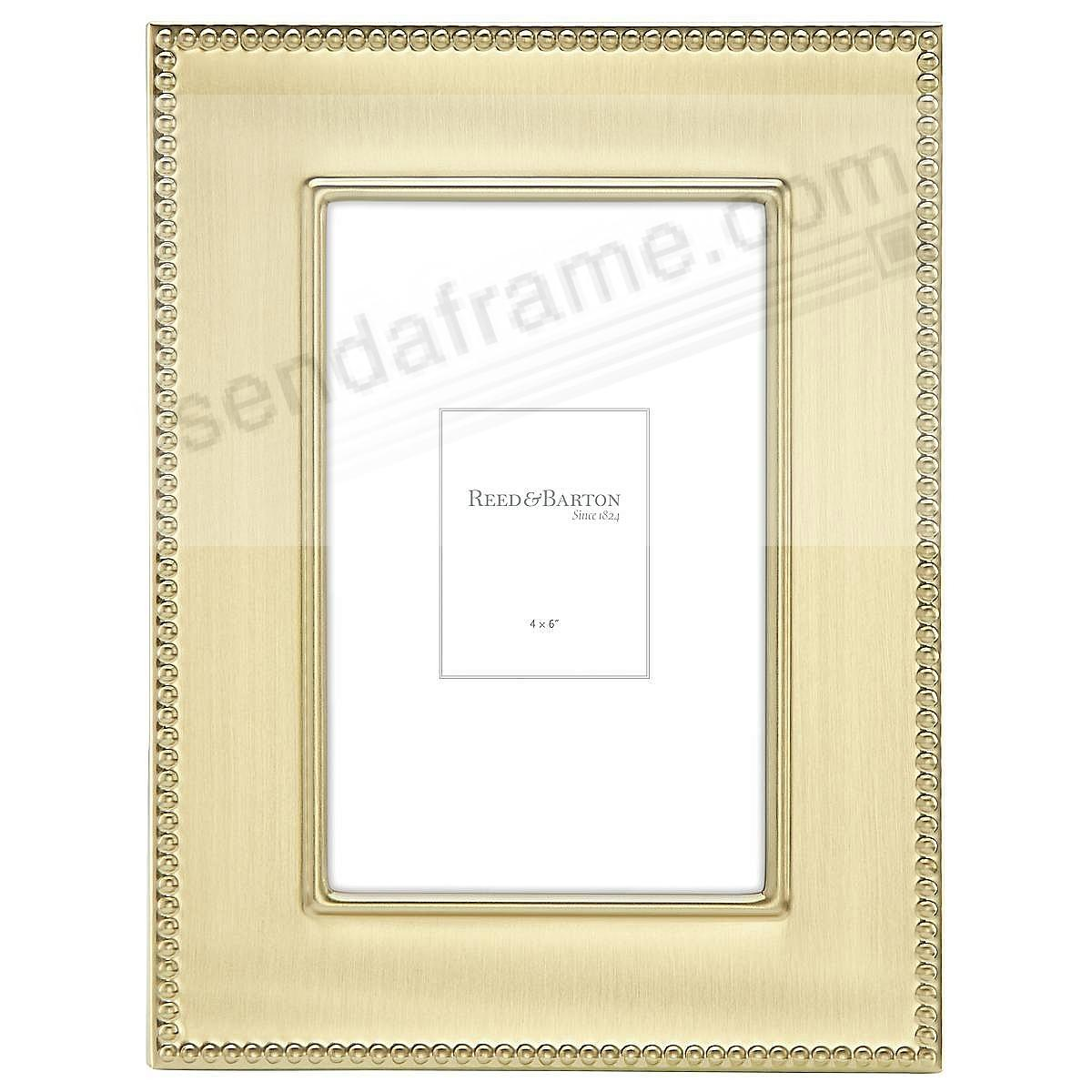 Engraveable LYNDON GOLD 4x6 frame by Reed & Barton®