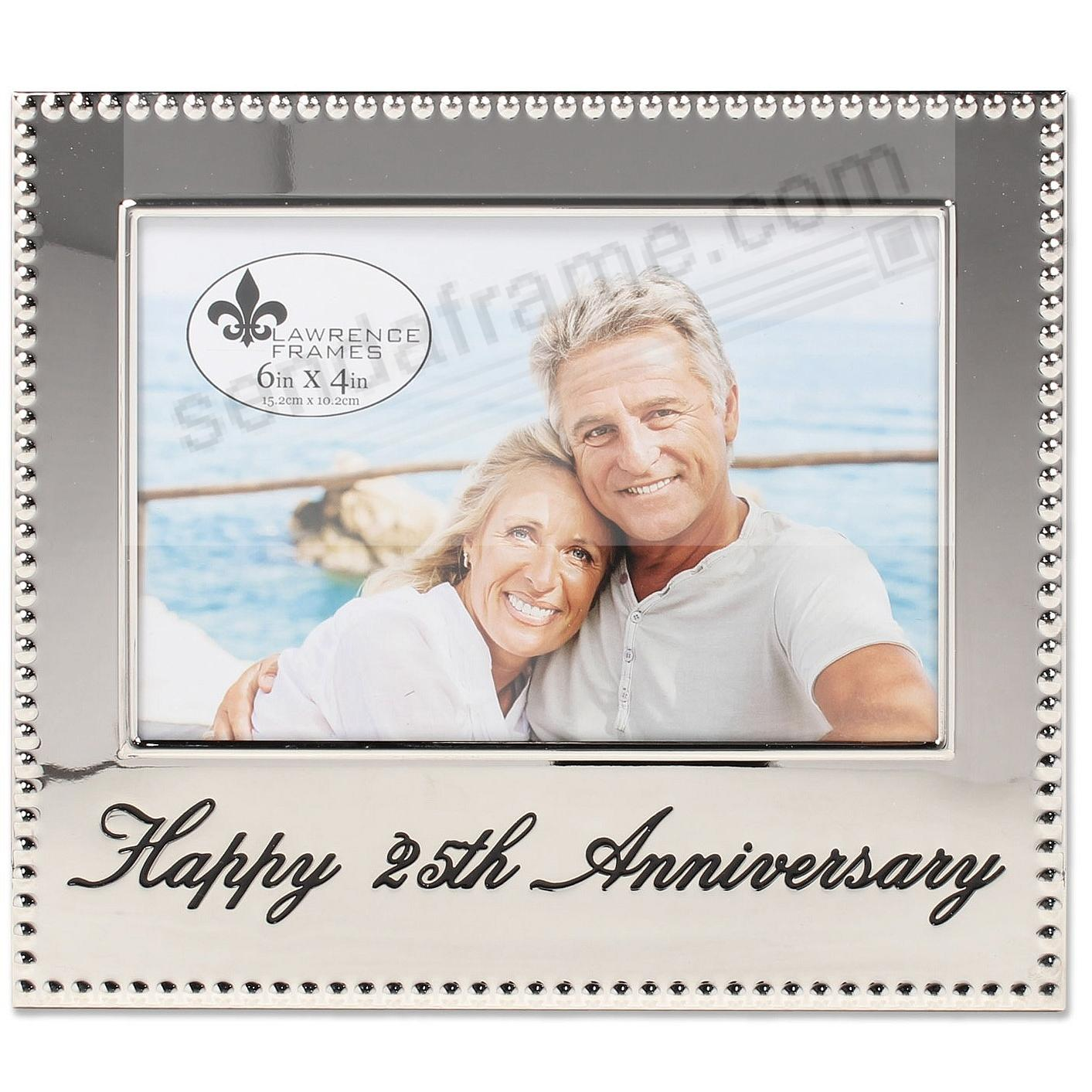 HAPPY 25th ANNIVERSARY special engraved celebration frame