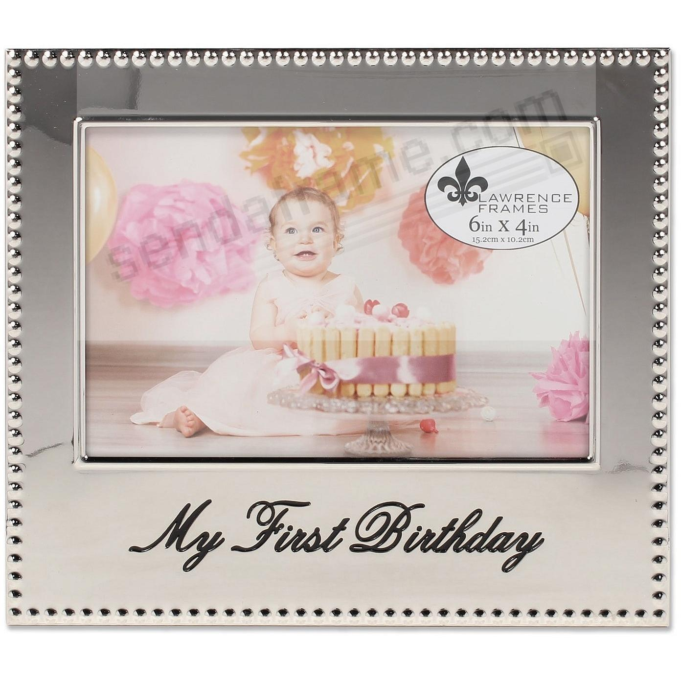 MY FIRST BIRTHDAY celebration frame by Lawrence®