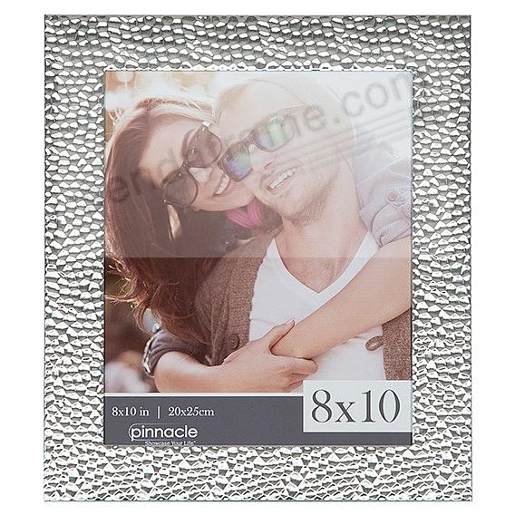 Hammered Silver finish 8x10 frame by Pinnacle®