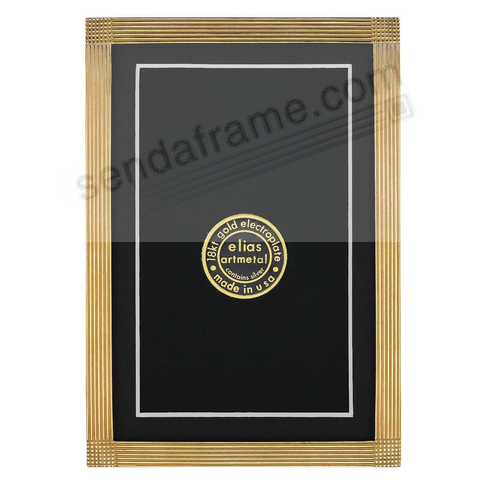 MATRIX luxe museum gold over fine pewter 4x6/3½x5½ by Elias Artmetal®