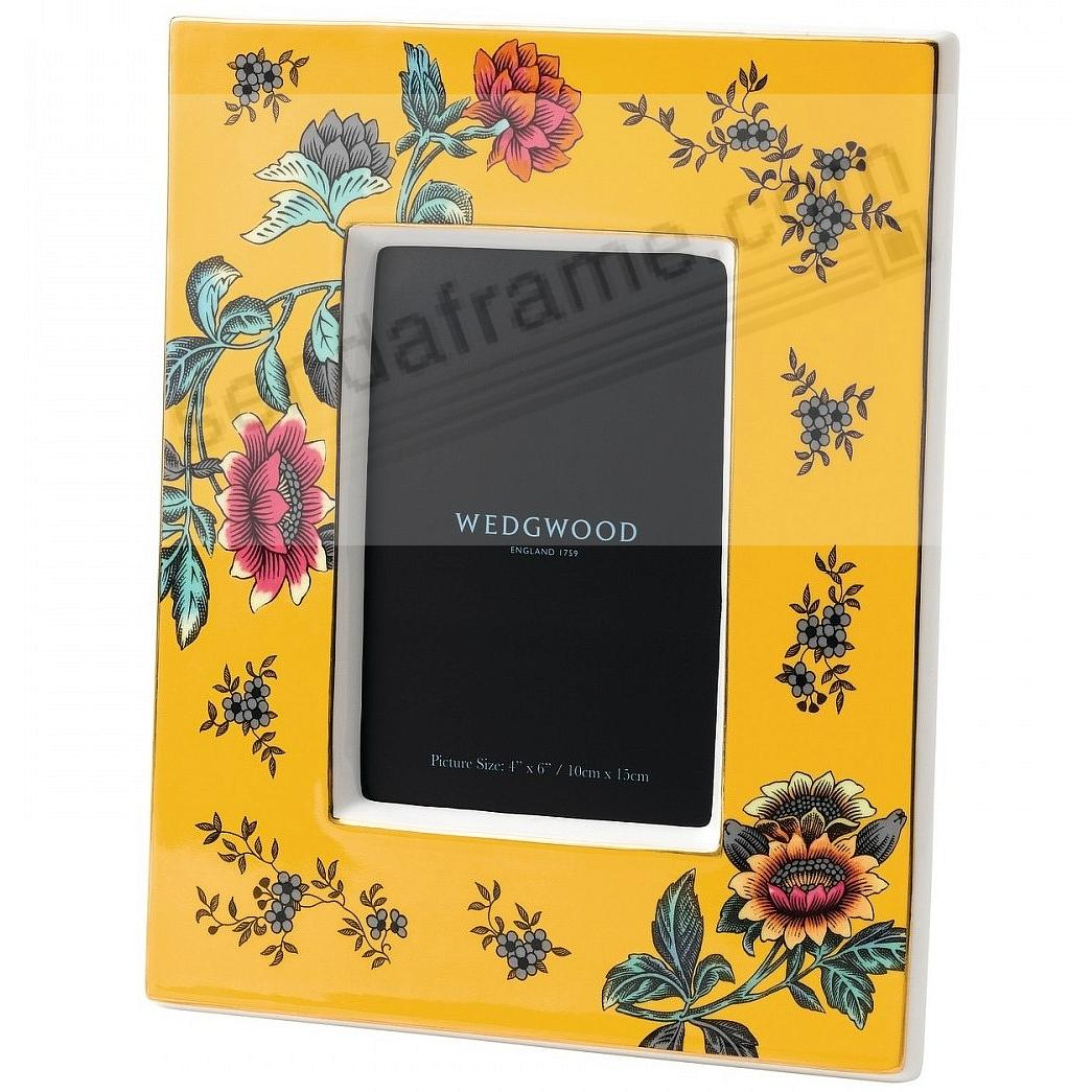 Wonderlust YELLOW TONQUIN 4x6in Picture Frame by Wedgwood®