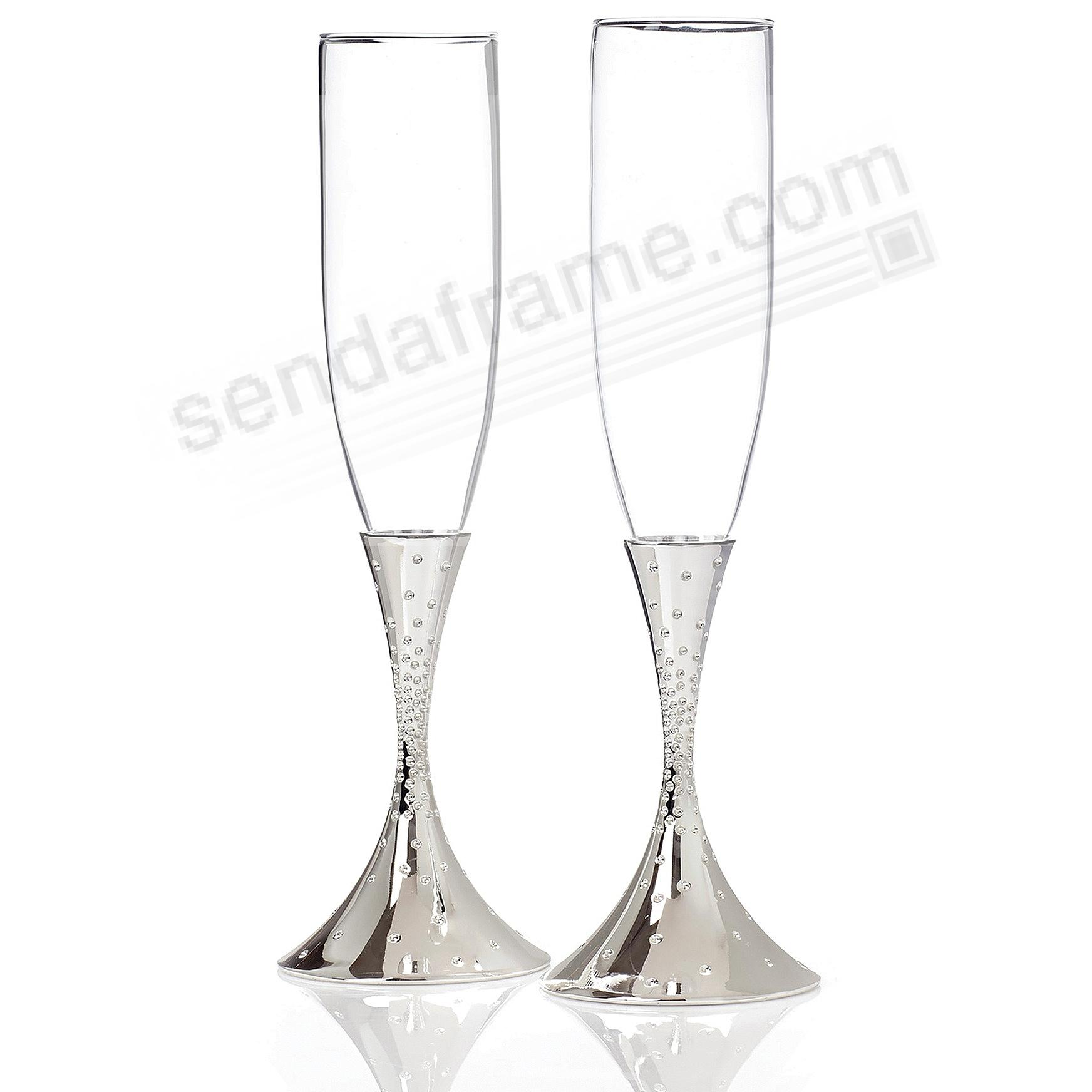 The DAZZLE CHAMPAGNE Toasting FLUTES by Nambe® (set of 2)
