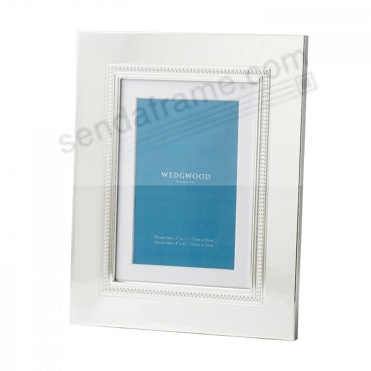 SIMPLY WISH SILVER 5x7/4x6 frame by Wedgwood®
