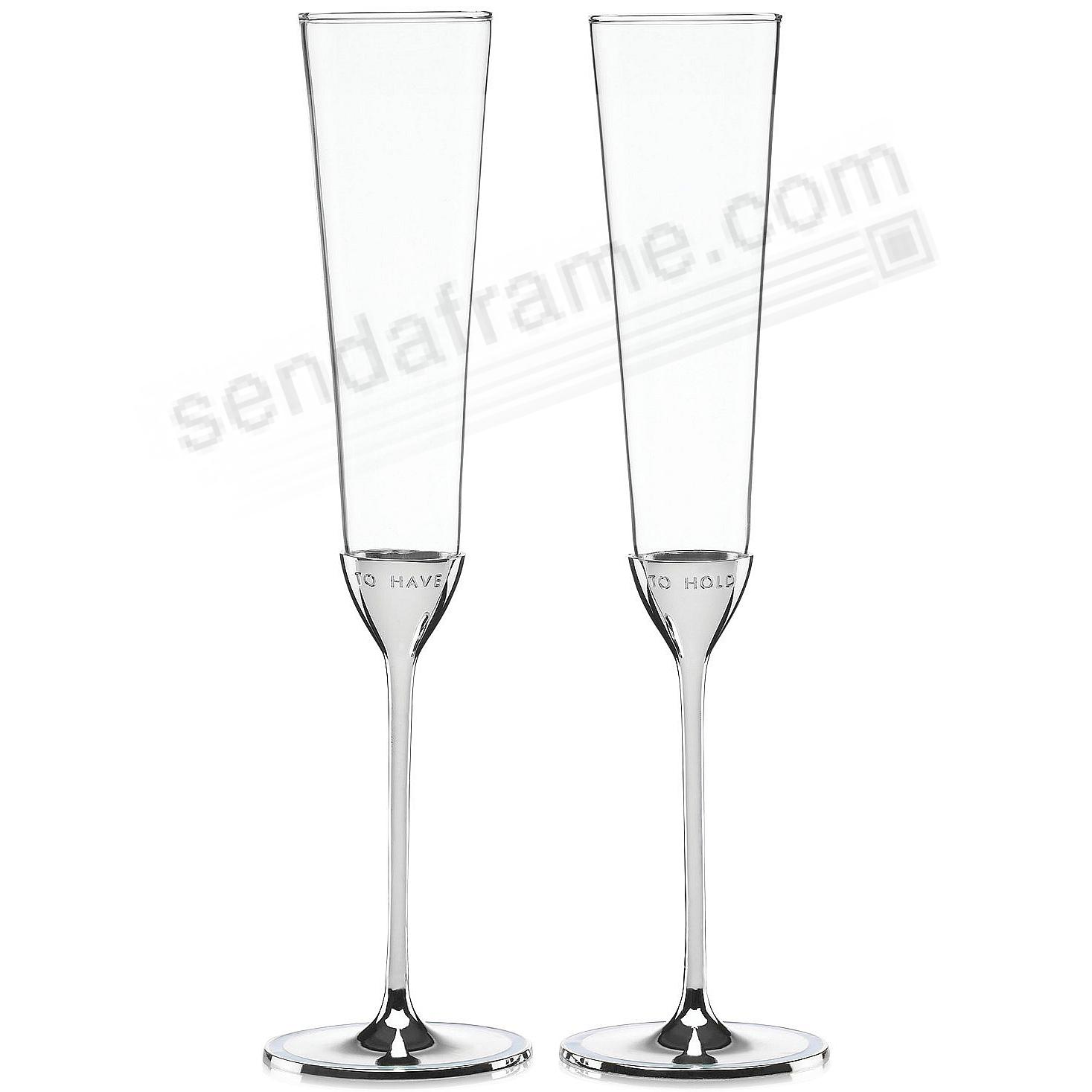 The TAKE THE CAKE TOASTING FLUTES (PAIR) by kate spade®
