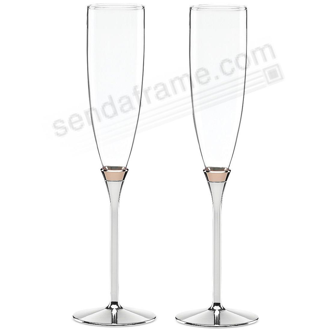 The ROSY GLOW FLUTES (PAIR) by kate spade®
