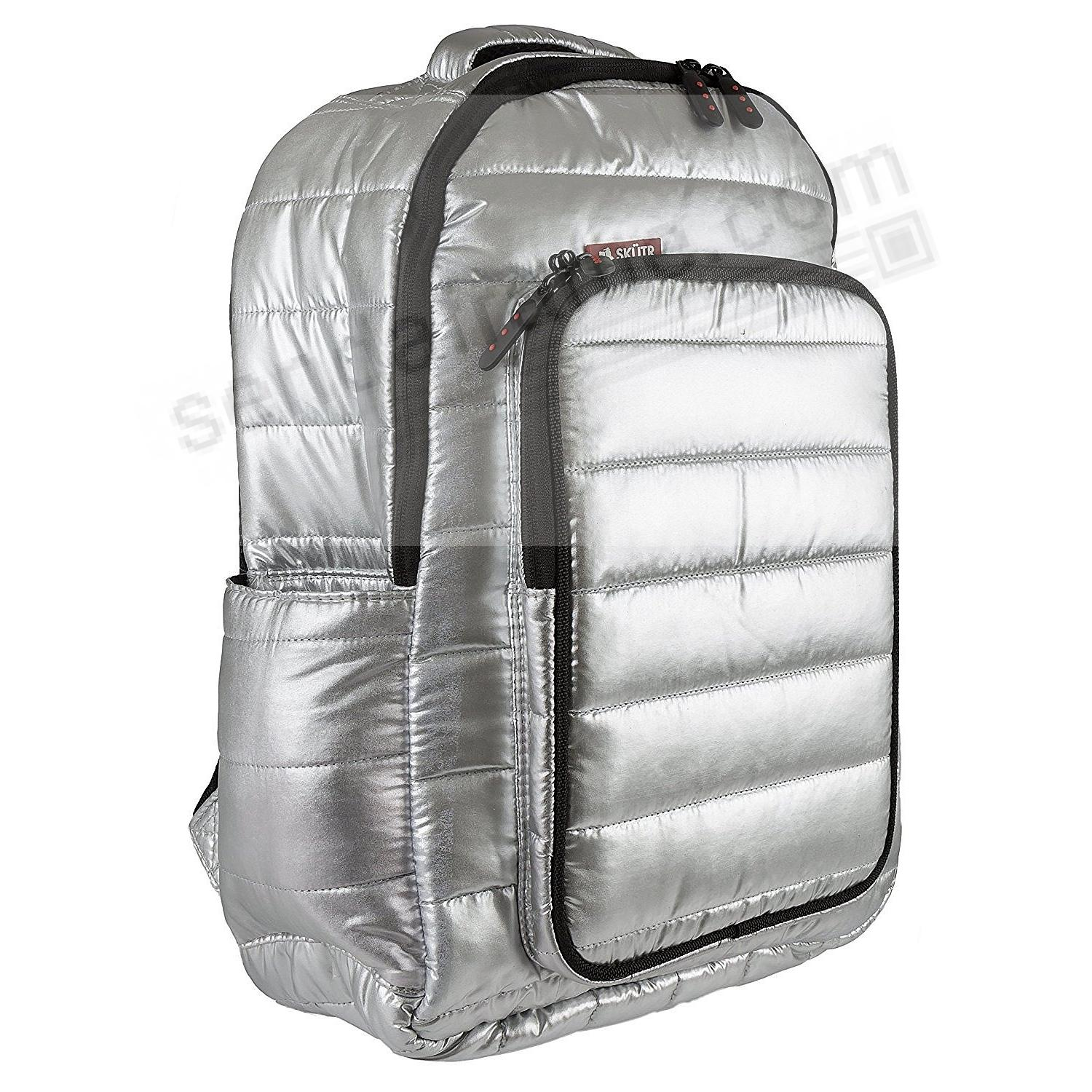 SKÜTR® PUFFY BACKPACK + TABLET BAG - Silver