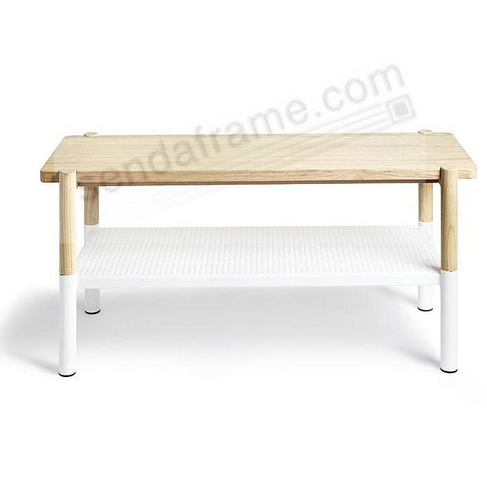 The Original PROMENADE BENCH White/Natural by Umbra®