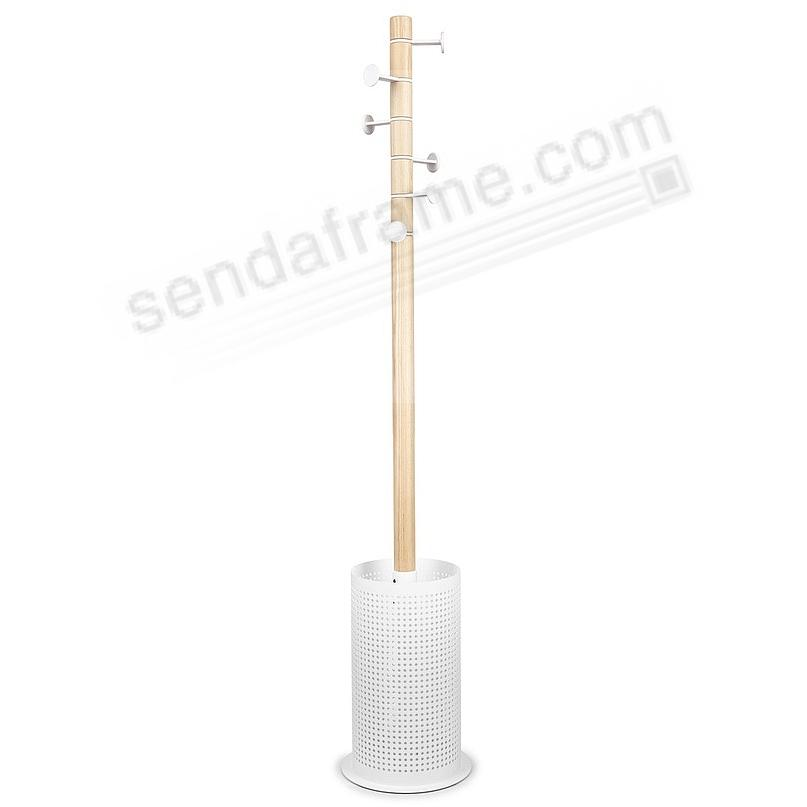 The Original PROMENADE COAT + UMBRELLA STAND WHITE/Natural by Umbra®