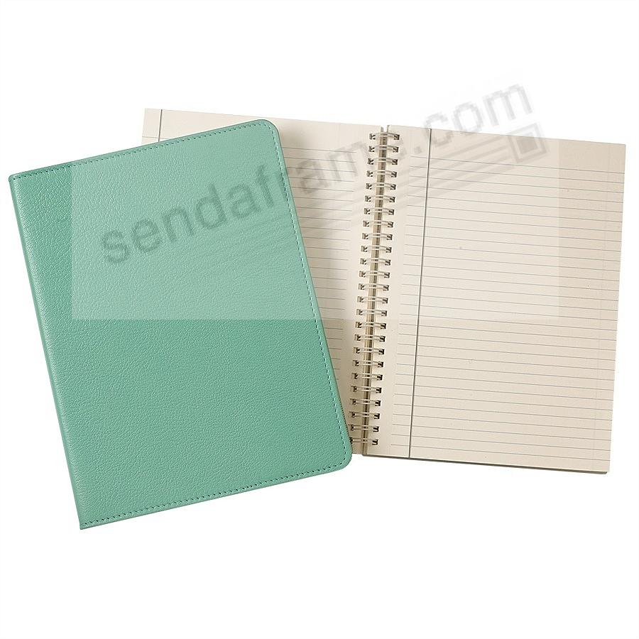 Wire-O-Notebook 9in Robins-Egg Blue Fine Leather by Graphic Image™