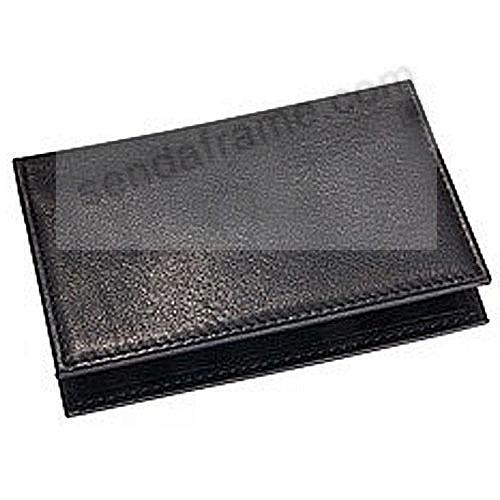 Card Case w/ID Holder in Black Traditional Leather by Graphic Image®