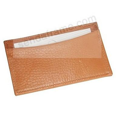 Slim Design Card Case in British-Tan Traditional Leather by Graphic Image®
