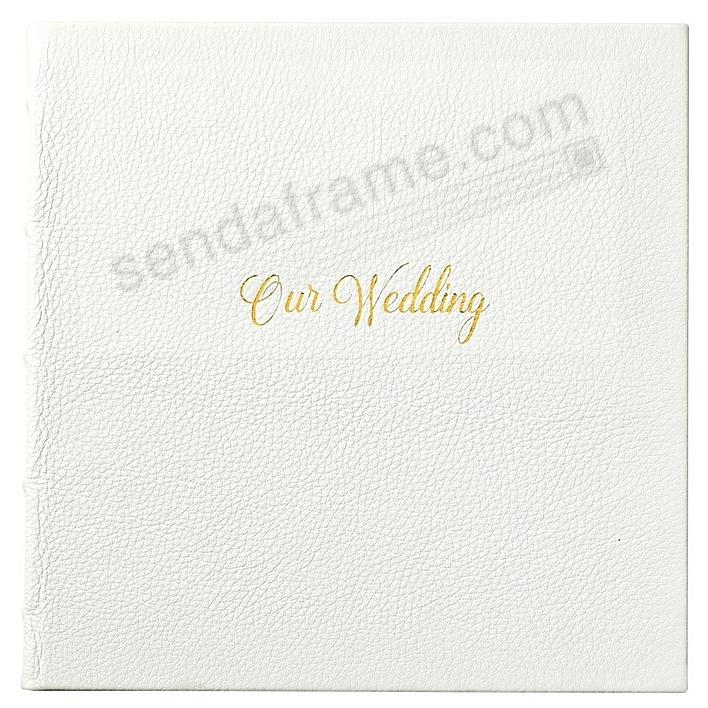 OUR WEDDING Journal White Full Grain Leather by Graphic Image™