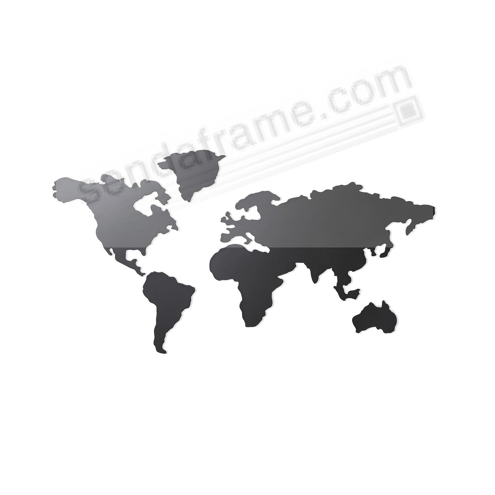 The New MAPPIT TITANIUM Relief World Map by Umbra®
