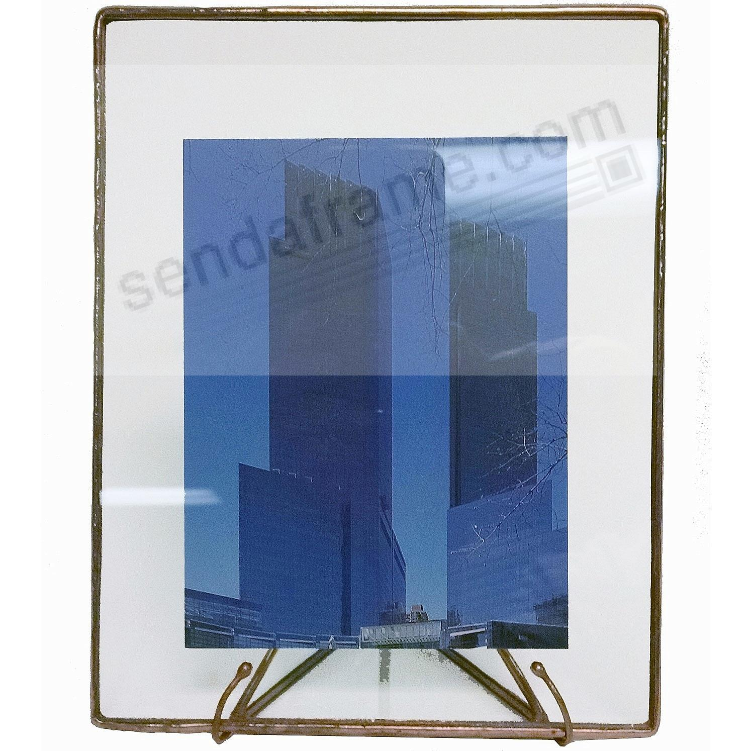 COPPER + CLEAR GLASS Float Frame 9x11/8x10 by Bedford Downing®