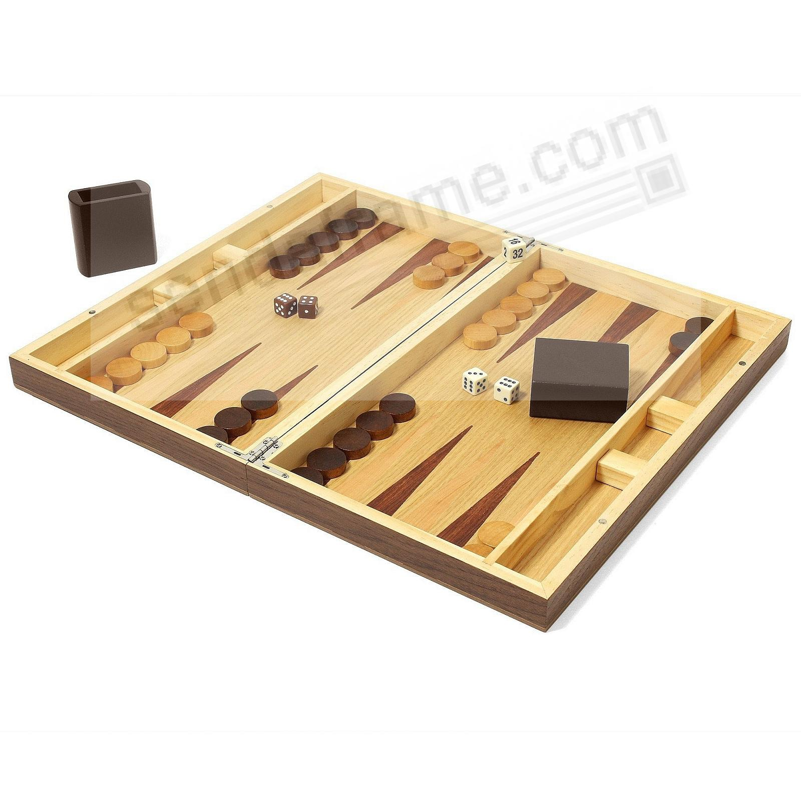 Collector's Edition Backgammon Walnut/Oak Finish by Swing Design®