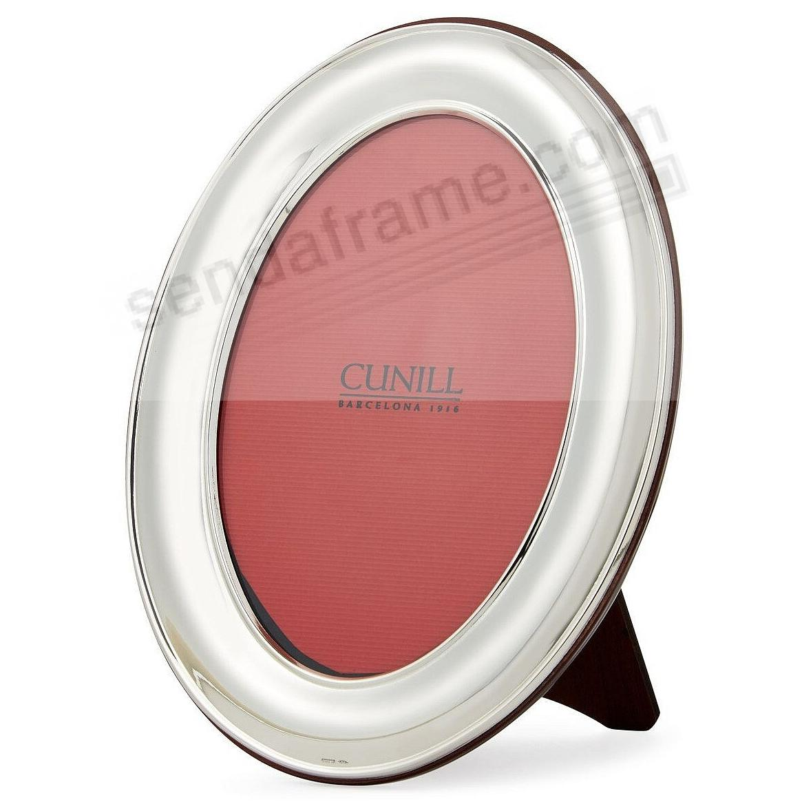 OVAL PLAIN Fine Sterling Silver frame<br>by Cunill&reg;