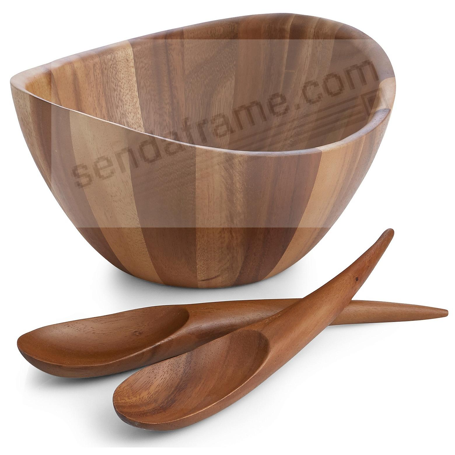 The Original HARMONY SALAD BOWL w/SERVERS crafted by Nambe®