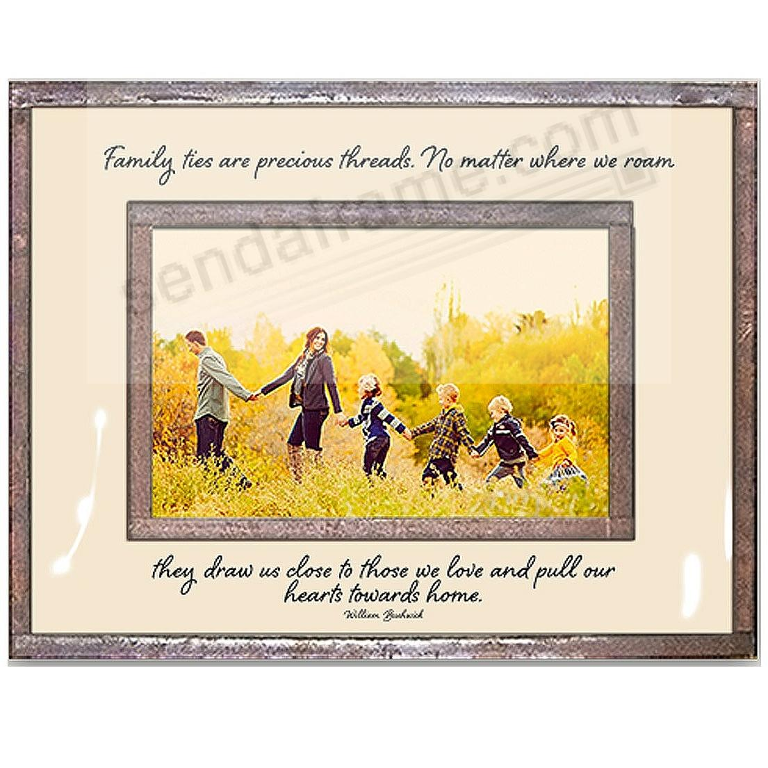FAMILY TIES ARE PRECIOUS THREADS... Copper + Clear Glass by Ben's Garden®