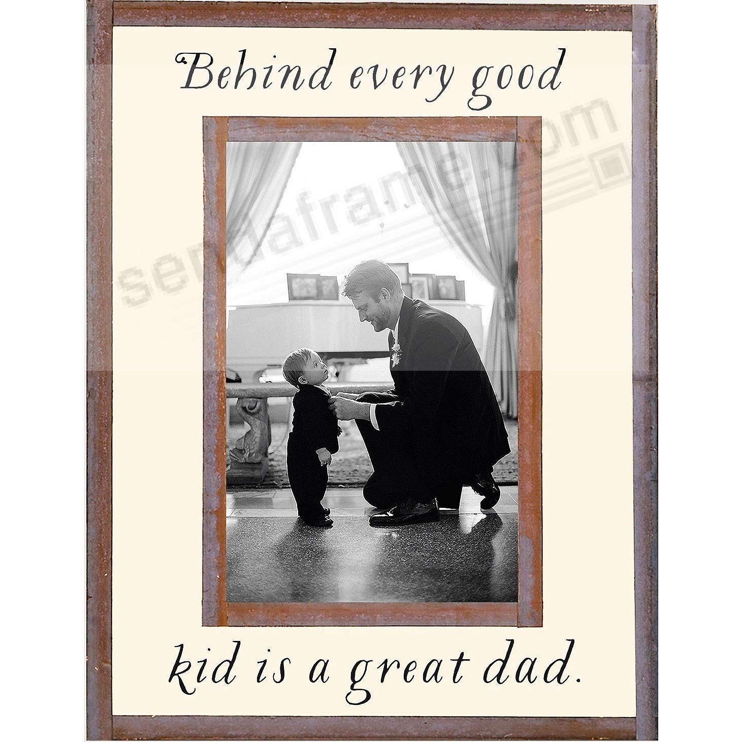 BEHIND EVERY GOOD KID IS A GREAT DAD Copper + Clear Glass by Ben's Garden®