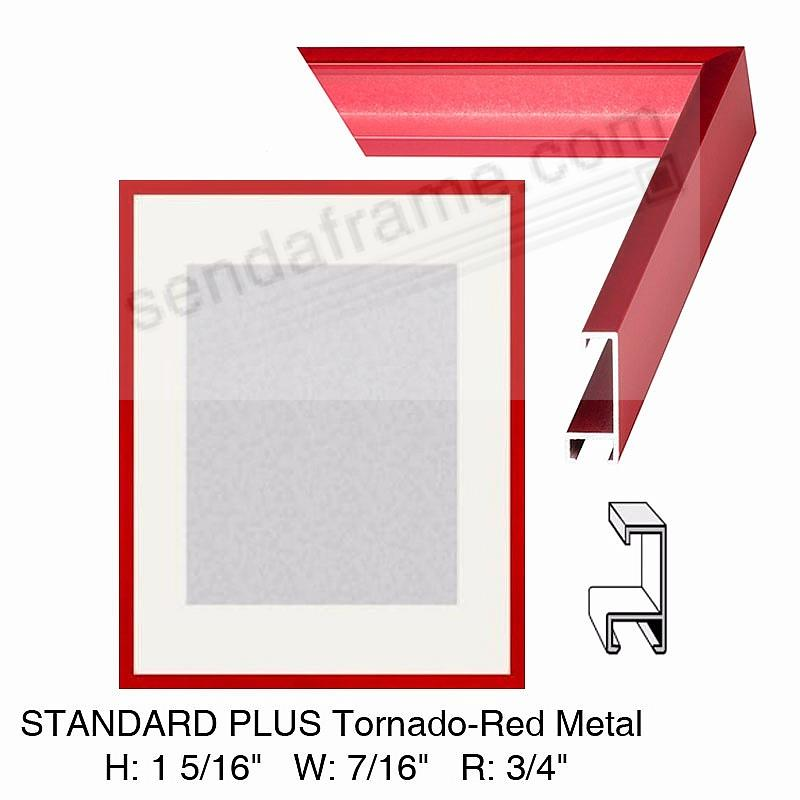 Custom-Cut™ STANDARD PLUS Tornado-Red Metal frame H:1-5/16 W:7/16 R:3/4