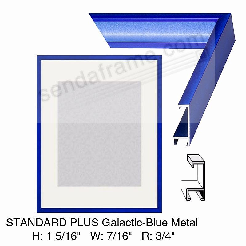 Custom-Cut™ STANDARD PLUS Galactic-Blue Metal frame H:1-5/16 W:7/16 R:3/4