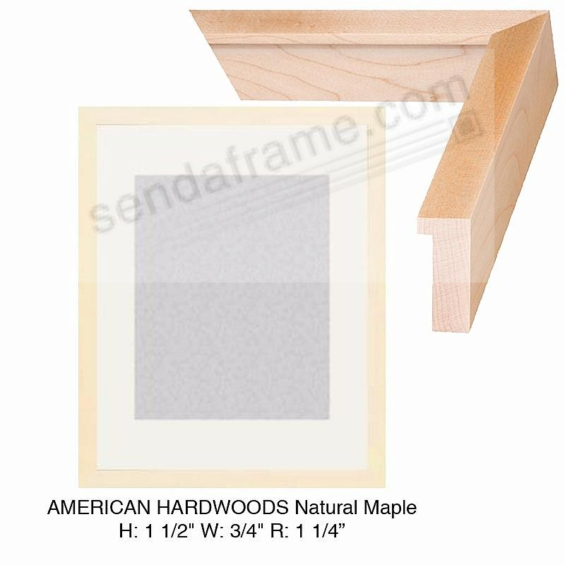 Custom-Cut™ AMERICAN HARDWOOD NATURAL MAPLE Wood H:1-1/2 W:3/4 R:1-1/4