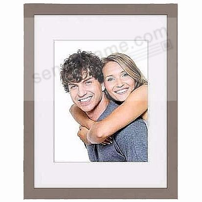 Taupe TRIBECA archival 11x14/8x10 matted wood frame from ARTCARE®