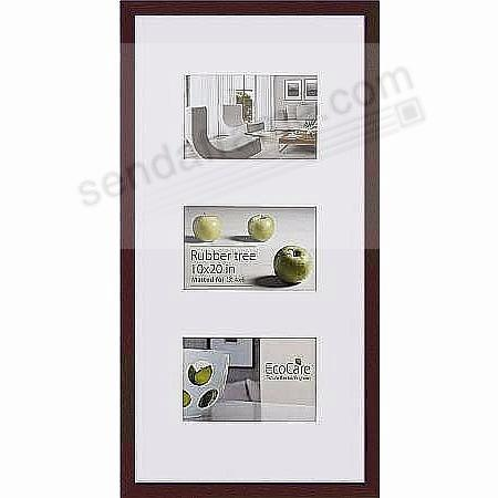 CONTEMPORARY Bamboo Mocha-Brown Matted frame displays (3)-4x6/10x20 prints by EcoCare®