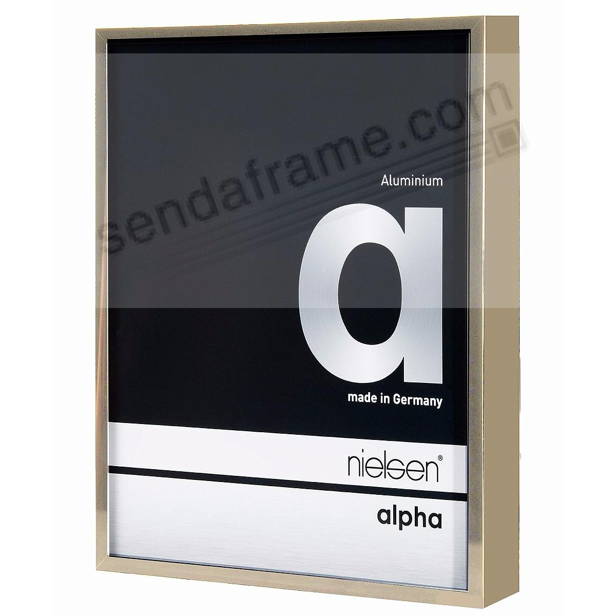 ALPHA Metallic Brushed-Gold 5x7 frame by Nielsen®