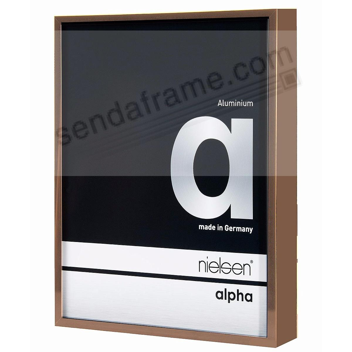 ALPHA Metallic Brushed-Bronze 8x10 frame by Nielsen®