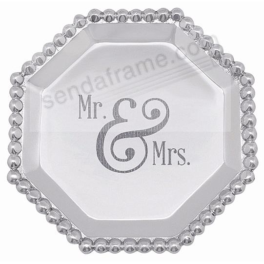 MR + MRS PEARLED OCTAGONAL CANAPE PLATE by Mariposa®