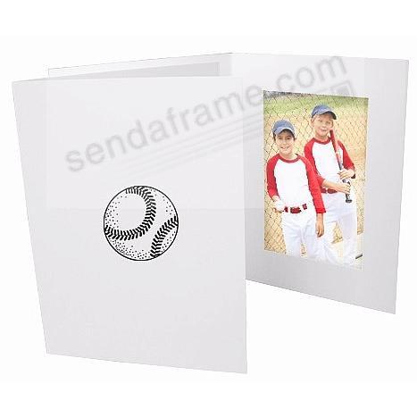 BASEBALL Black on White Cardboard Photo Folder 4x6 frame