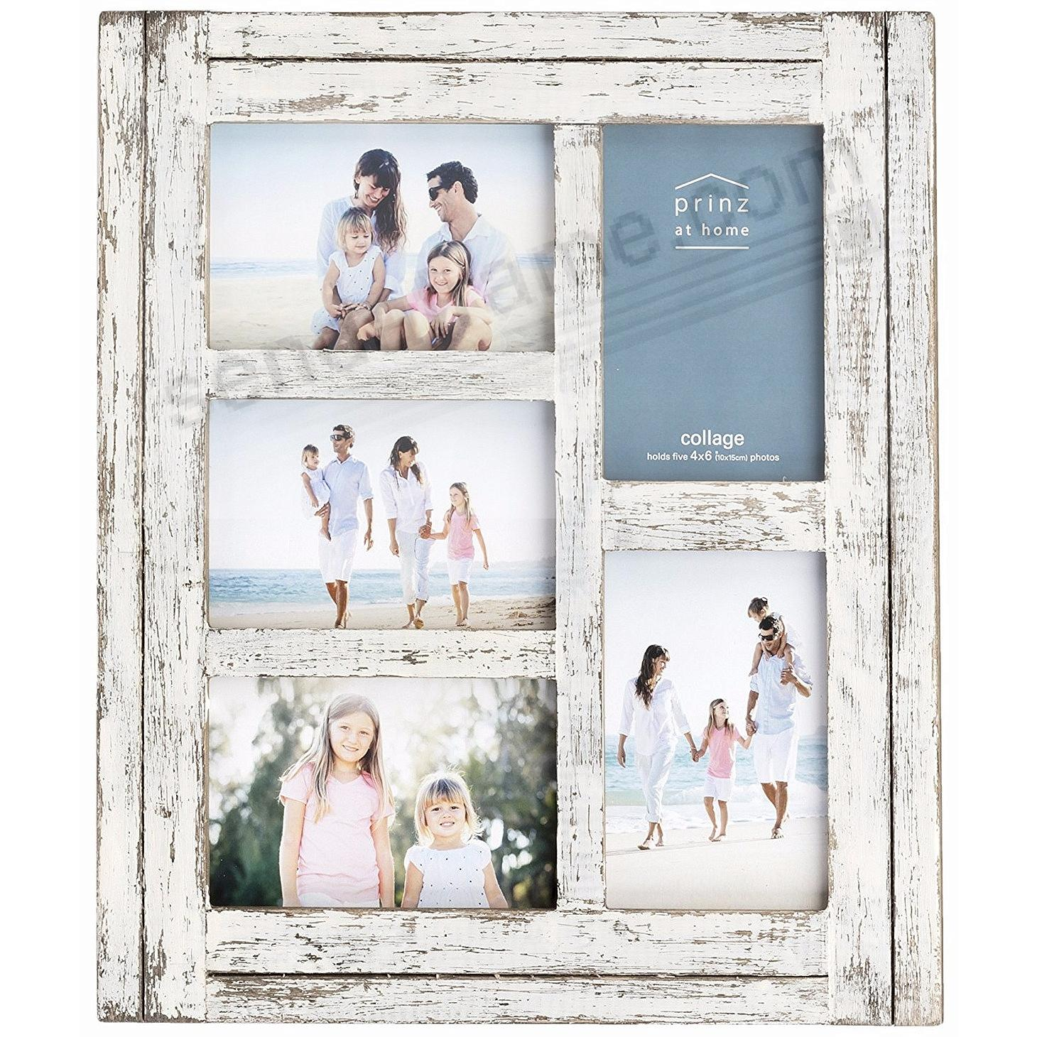 HOMESTEAD Antique White Wood Collage 4x6 Collage Frame by Prinz®