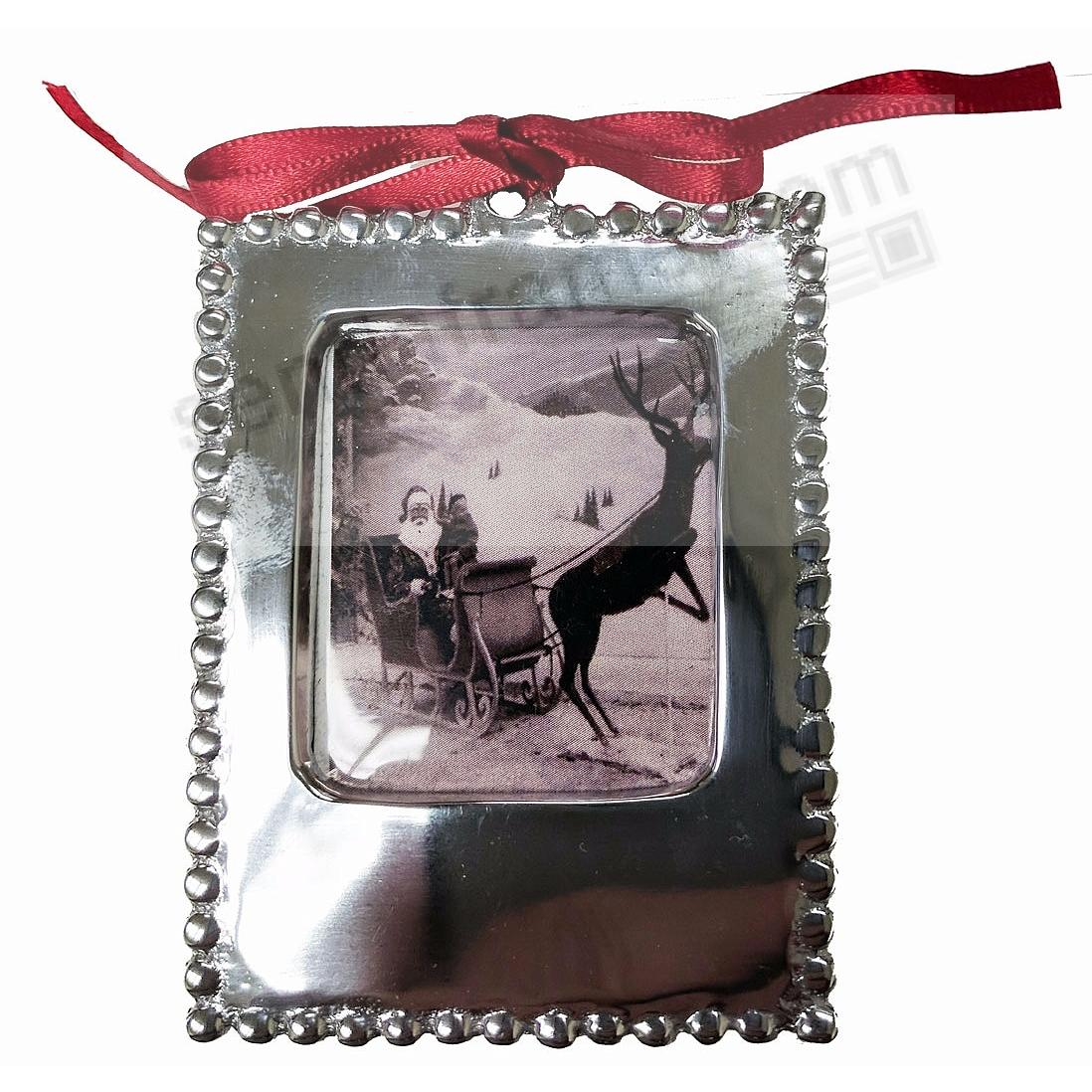 The original BLANK STATEMENT ORNAMENT 2x3 frame by Mariposa® ... Beautifully Engraveable!