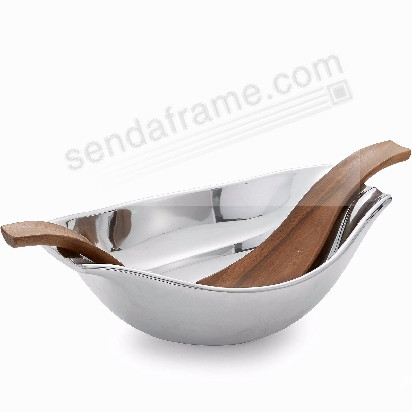 The Original DRIFT BOWL w/SERVERS crafted by Nambe®