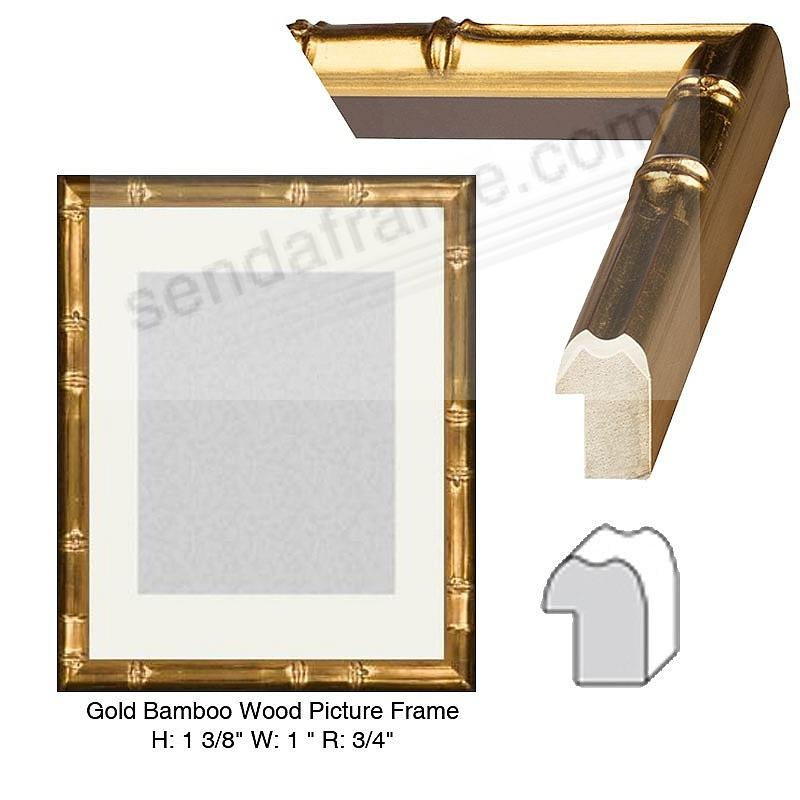 Custom-Cut™ BAMBOO Gold-Leaf H:1-3/8 W:1  R:3/4