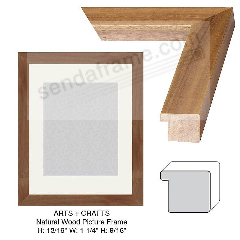 Custom-Cut™ ARTS+CRAFTS NATURAL Wood H: 13/16  W: 1 1/4  R: 9/16