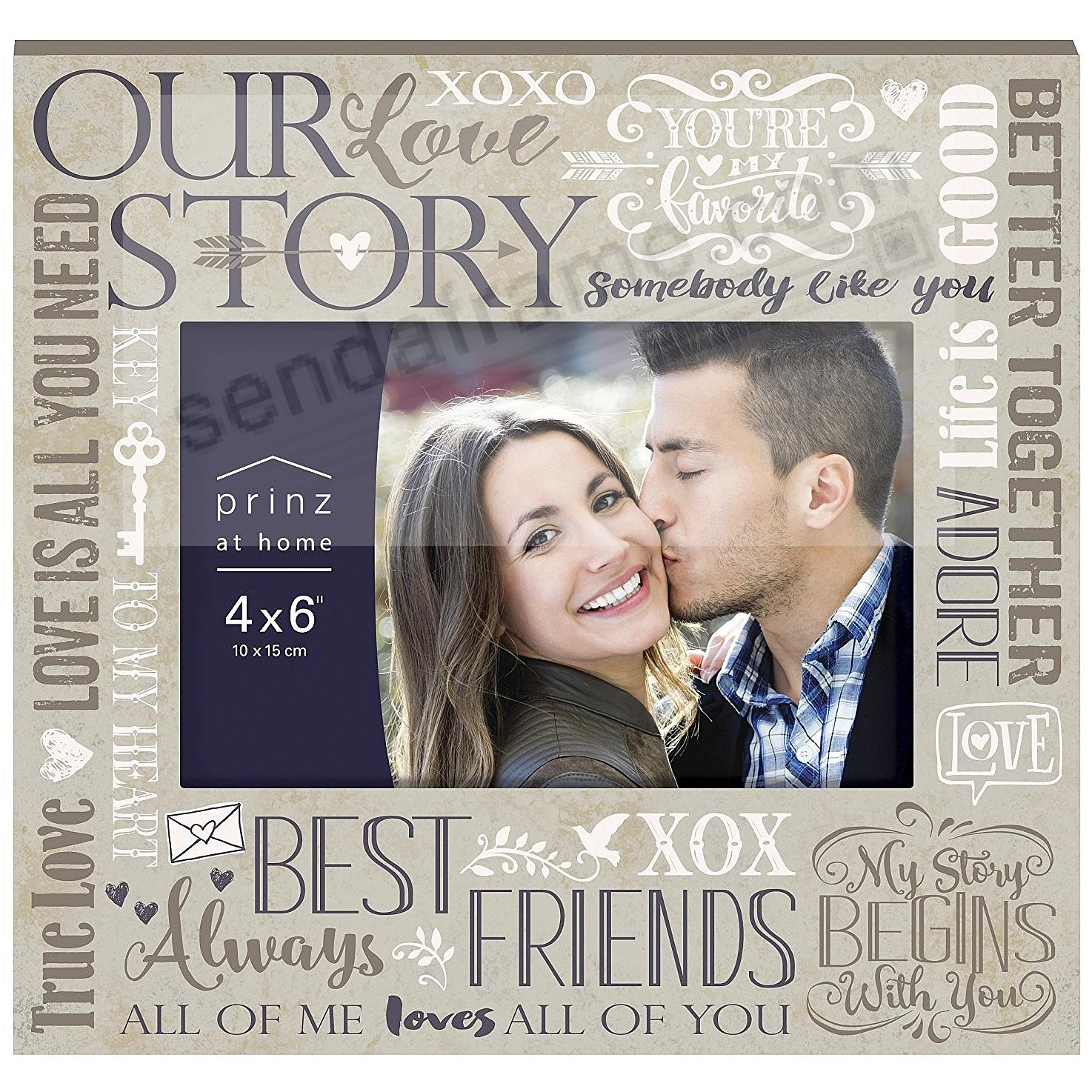 MORE THAN WORDS - LOVE - Paper on MDF Frame by Prinz®