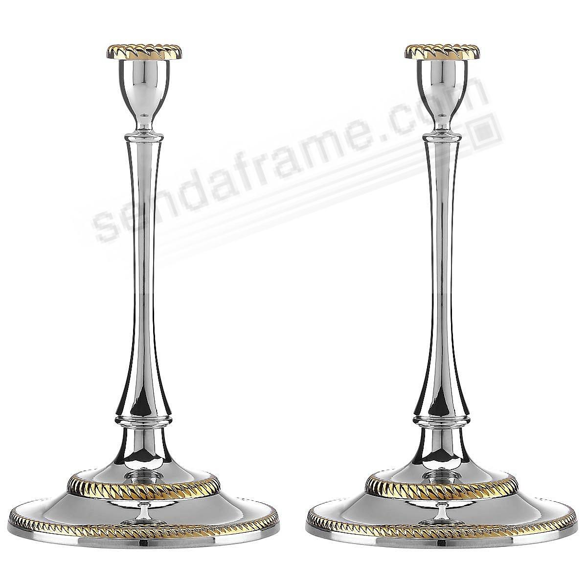 The ROSELAND CANDLESTICK (PAIR) by Reed and Barton®