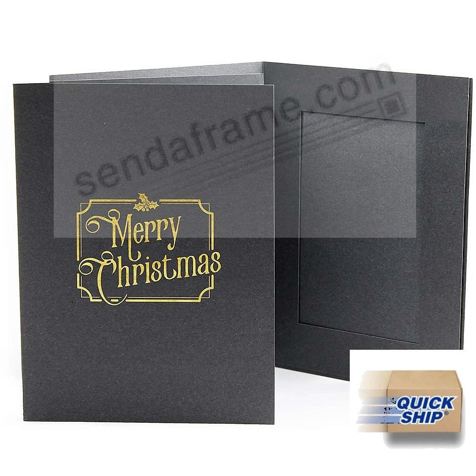 TRADITIONAL MERRY CHRISTMAS Photomount Folder 4x6 frame (sold in 25's)