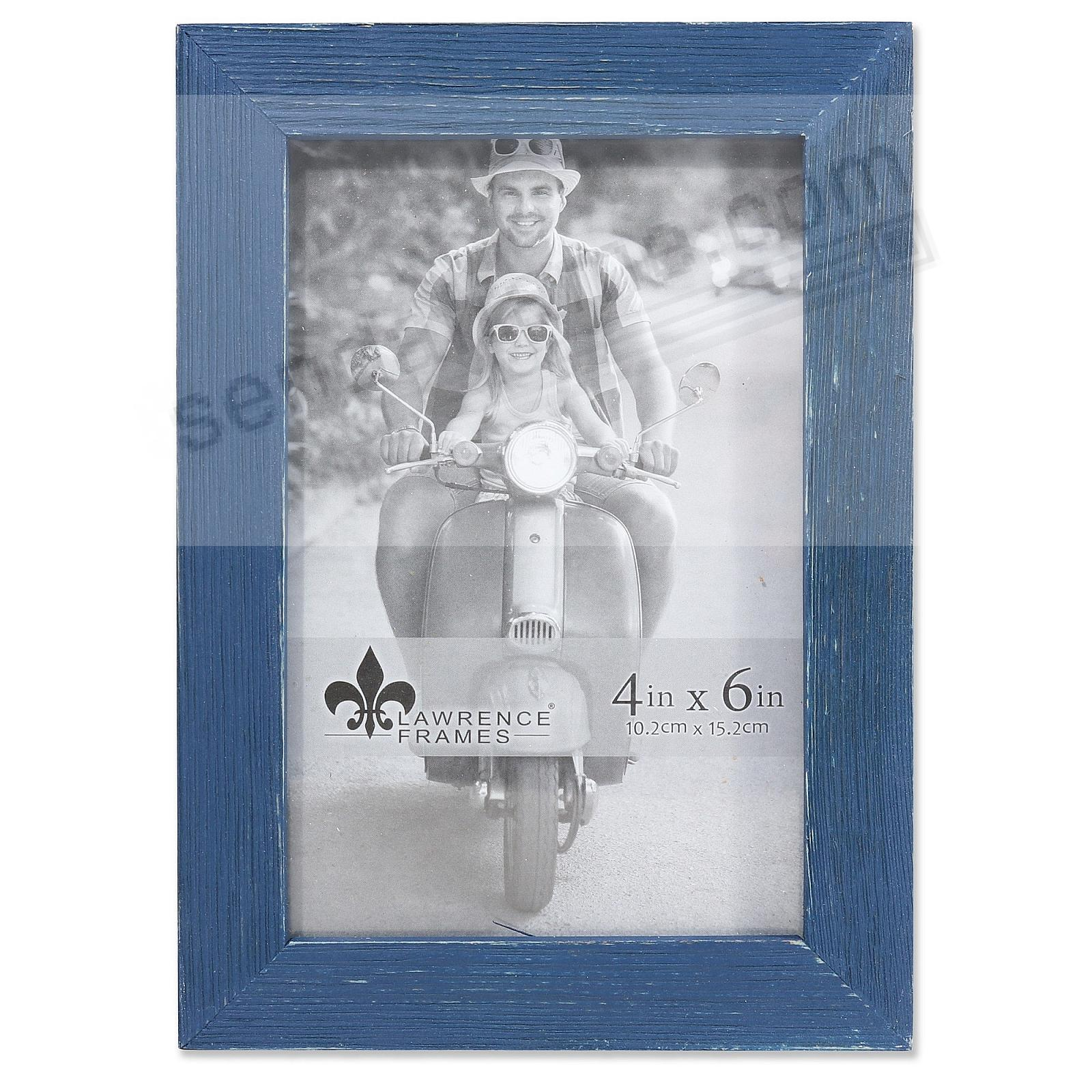 Weathered CHARLOTTE NAVY-BLUE WOOD frame by Lawrence®