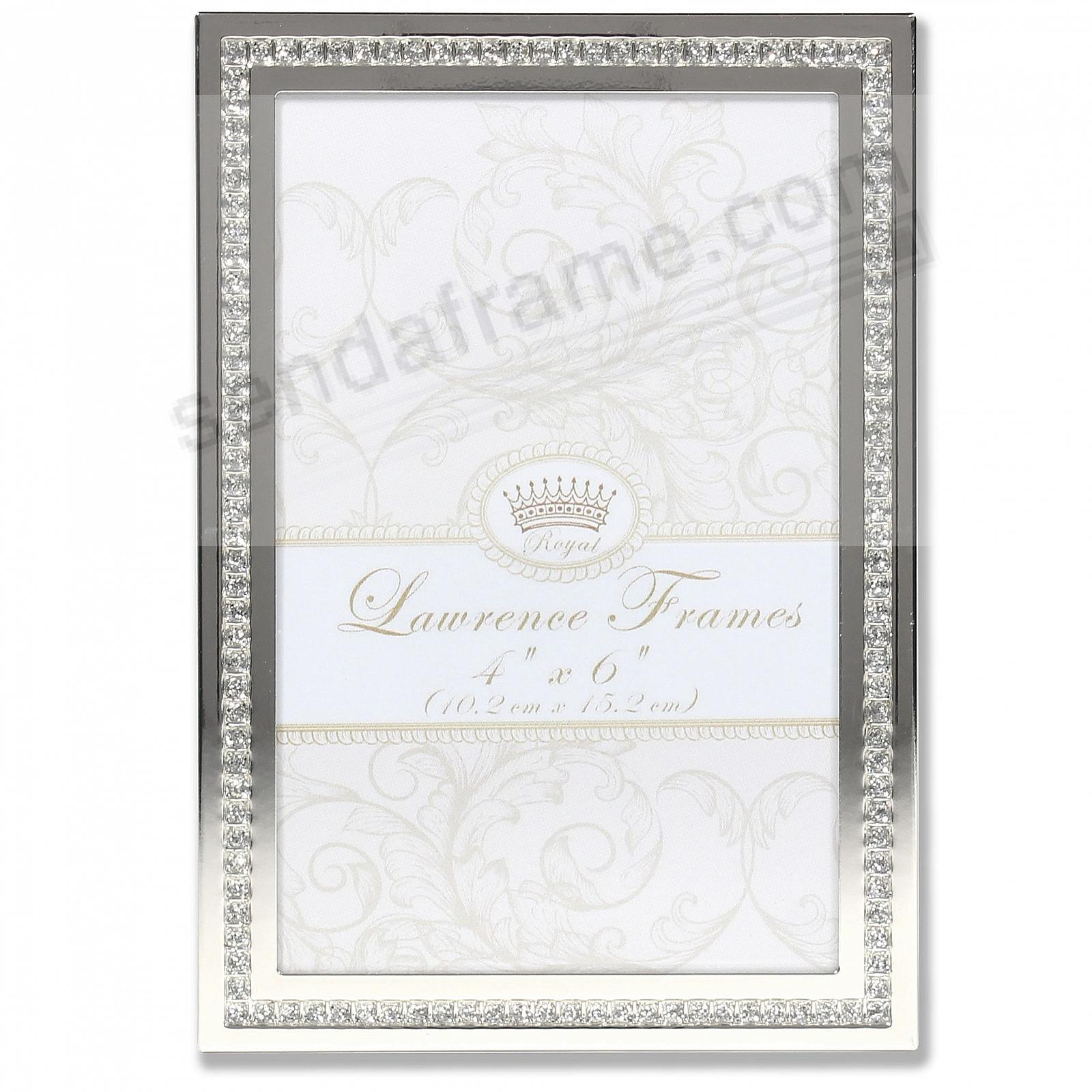 WHITE JEWELS SILVER/Crystal frame
