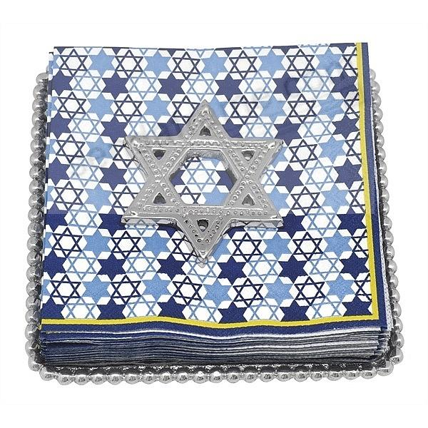 STAR OF DAVID BEADED Napkin Tray by Mariposa®
