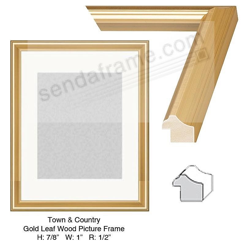 Custom-Cut™ Town + Country Gold Leaf H: 7/8  W: 1  R: 1/2