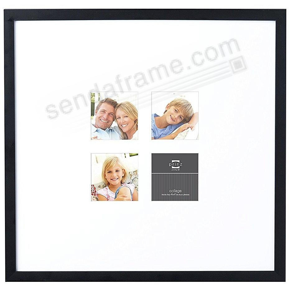 Matted black polystyrene collage frame for 4 - 4x4/19x20 prints by Prinz®