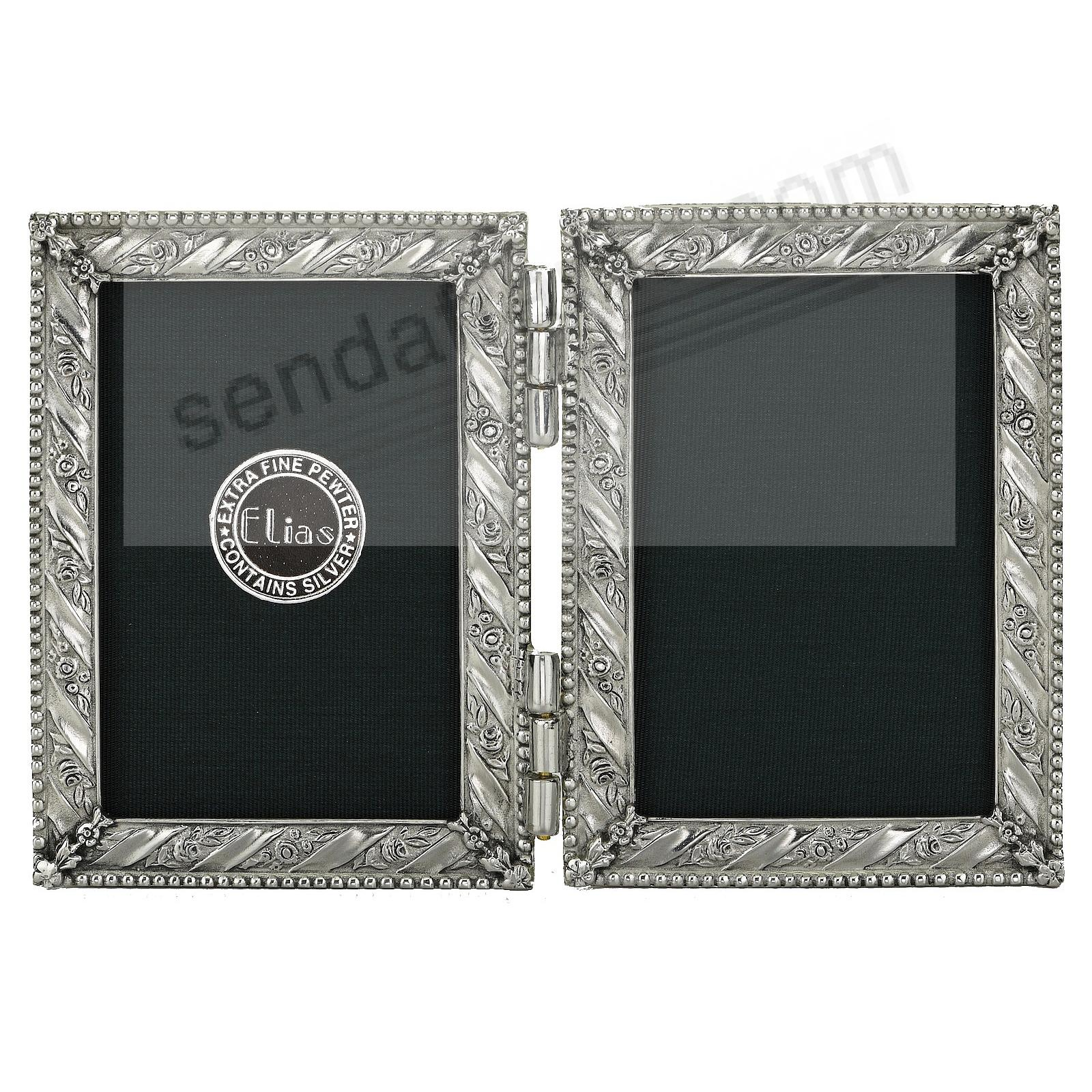 GIFTWRAP luxe fine pewter DOUBLE HINGED 2x3 by Elias Artmetal®